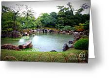 Rainy Day In Kyoto Palace Garden Greeting Card