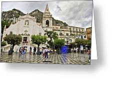 Rainy Day In Taormina 2 Greeting Card