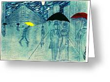 Rainy Day In The City Greeting Card