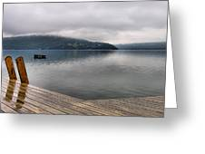 Rainy Day Keuka Greeting Card by Steven Ainsworth