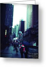 Rainy Day New York City Greeting Card