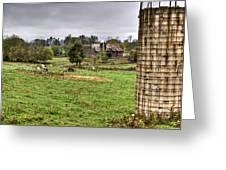 Rainy Day On The Farm Greeting Card