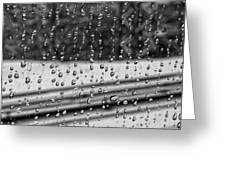 Rainy Day On The Train Greeting Card