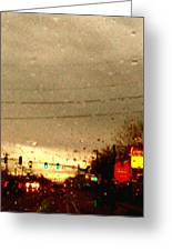 Rainy Evening Greeting Card