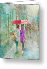 Rainy In Paris 1 Greeting Card