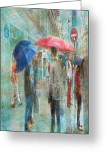 Rainy In Paris 6 Greeting Card