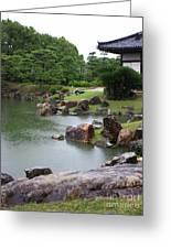 Rainy Japanese Garden Pond Greeting Card