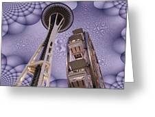 Rainy Needle Greeting Card
