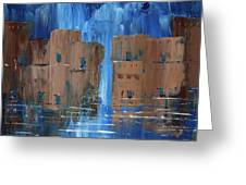 Rainy Night At The Pueblo Greeting Card