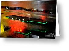 Rainy Night In Chinatown Greeting Card by Dean Harte