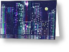Rainy Night In The City Greeting Card