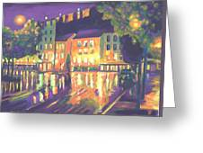 Rainy Night-old Quebec Greeting Card