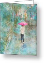 Rainy In Paris 3 Greeting Card
