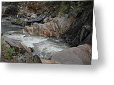 Rainy Rocky Rapids Greeting Card