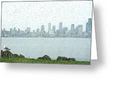 Rainy Skyline D040 Greeting Card