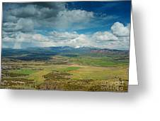 Rainy Storm Clouds Mesa Verde National Park Greeting Card