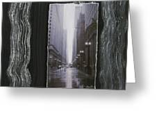 Rainy Street Layered Greeting Card