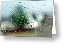 Rainy Window 1 Greeting Card