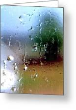 Rainy Window Abstract Greeting Card