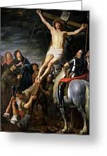Raising The Cross Greeting Card
