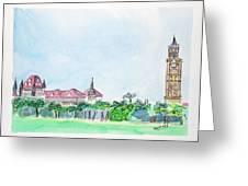 Rajabai Clock Tower And Bombay High Court Greeting Card