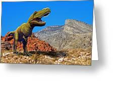 Rajasaurus In The Desert Greeting Card
