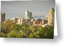 Raleigh Nc Panoramic Greeting Card