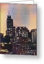 Raleigh Skyscrapers Greeting Card