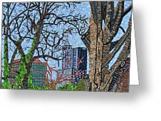 Raleigh - View From Chavis Park Greeting Card