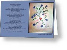 Rambling Rose Blues - Poetry In Art Greeting Card