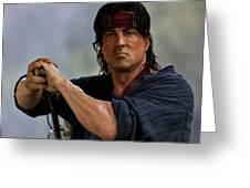 Rambo Sylvester Stallone Greeting Card