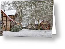 ramlosa brunnspark Snowfall Greeting Card
