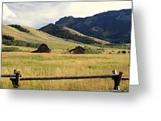 Ranch Along Tom Miner Road Greeting Card