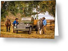 Ranch Hands Greeting Card
