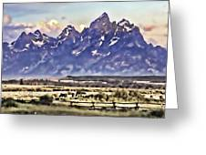 Ranch In Style Of A Watercolor Greeting Card