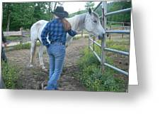 Ranchhand With Horsey Greeting Card