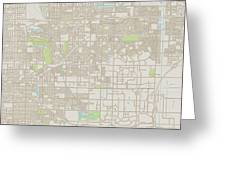 Rancho Cucamonga California Us City Street Map Greeting Card