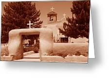 Ranchos De Taos Church   New Mexico Greeting Card
