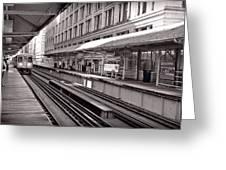Randolph Street Station Chicago Greeting Card