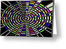Random Color Oval Abstract Greeting Card