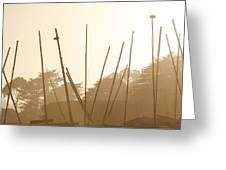Random Masts Greeting Card