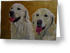 Ranger And Riley Waiting For A Command Greeting Card