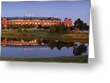 Rangers Ballpark In Arlington At Dusk Greeting Card