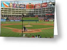 Rangers Ballpark In Arlington Greeting Card