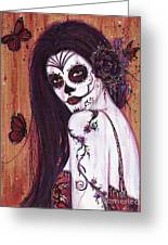 Ranita Day Of The Dead Greeting Card