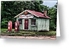 Rankins Grocery In Watercolor Greeting Card