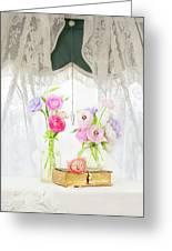 Ranunculus In Window Greeting Card