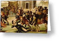 Rape Of The Sabines Greeting Card