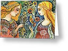 Raphael And Medieval Bird Greeting Card