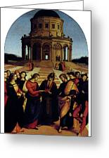 Raphael Marriage Of The Virgin Greeting Card